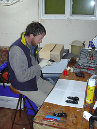 Dave working on the GPS loggers